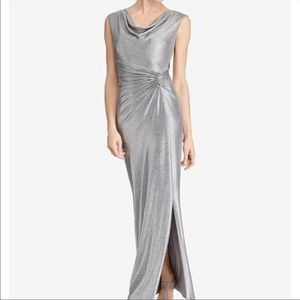 Ralph Lauren Women's Metallic Cowl-Neck Gown